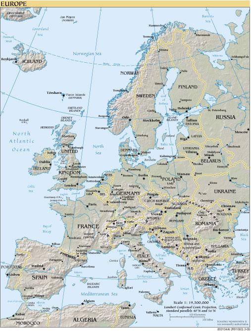 Mapa Europa Mapa fsicopoltico