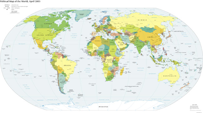 mapa mundi politico. Mapamundi (Mapa político)